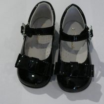Girls Black patent shoes – Bow Shoes