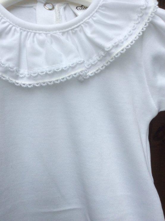 Spanish Frill Collar Romper / Body/ Baby Vest