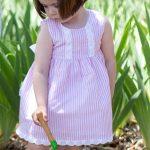 Babidu Pink  Candy Striped Dress Ref 91403