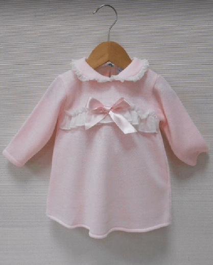 Sardon Print Dress Knitted Long Sleeve Dress