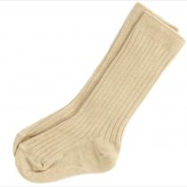 Beige Ribbed Socks by Kinder
