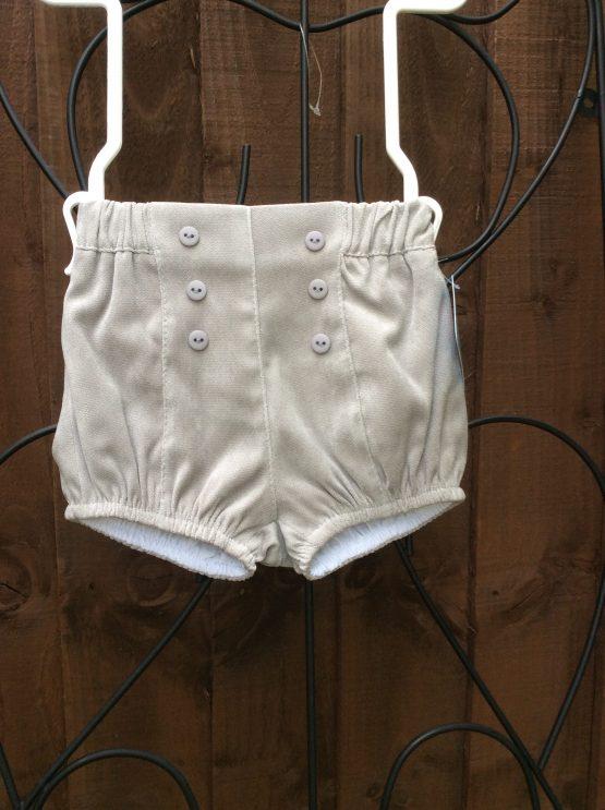 Baby Boys Grey Shorts – Velvet Feel