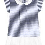 Babidu Navy Striped Summer Dress Ref 90286