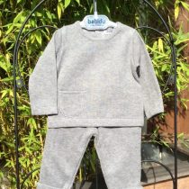 Babidu Baby 2 Piece Grey Trackie Set –  Round Neck