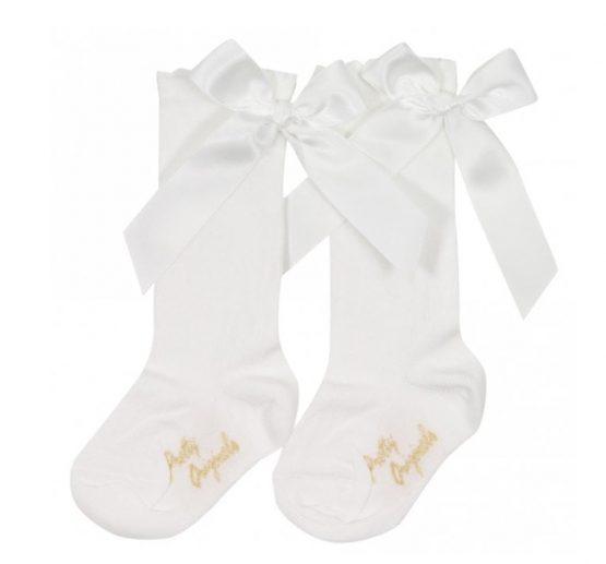 PRETTY ORIGINALS Socks With Bow – Cream
