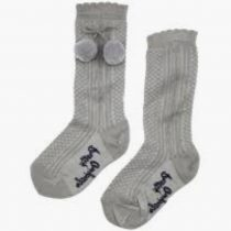 Pretty Originals Pom Pom Socks – Grey