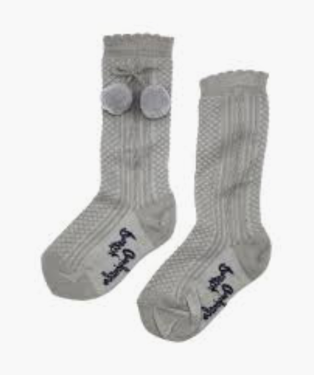 Pretty Originals Grey Pom Pom Socks