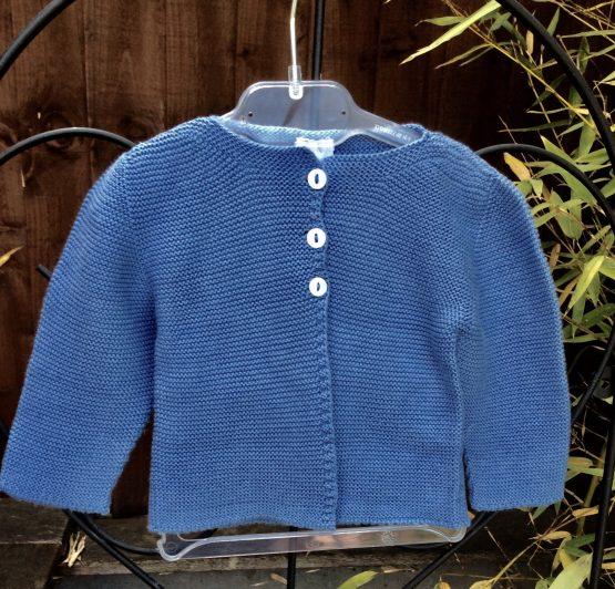Babidu Baby Denim Blue (Azul) 100% Cotton Cardigan