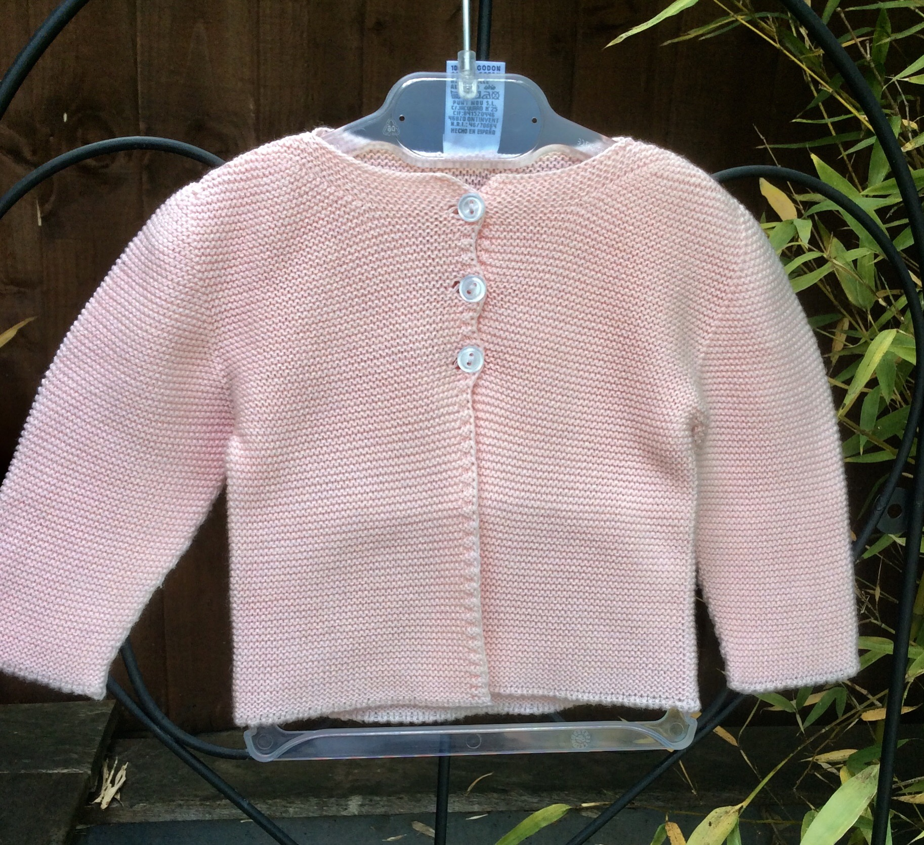 Babidu Pink Cardigan 100% Cotton