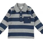 Ido boys Navy Long Sleeve Collared Tee