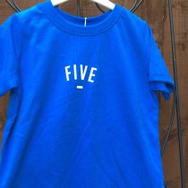 Bob & Blossom Blue FIVE Tee Shirt (Birthday Tee Shirt)