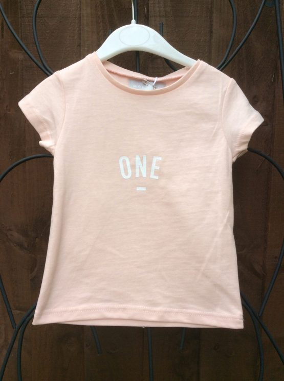 Bob & Blossom Peachy Pink ONE Tee Shirt (Birthday Tee Shirt)
