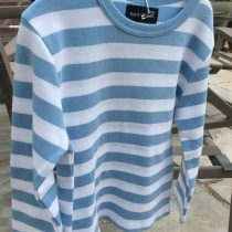 Bob & Blossom Blue Striped Long Sleeve Tee Shirt