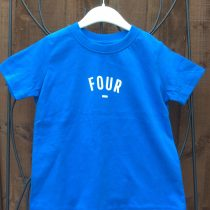 Bob & Blossom Blue FOUR Tee Shirt (Birthday Tee Shirt)