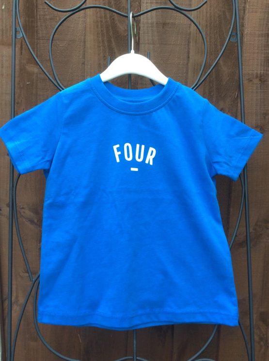 Bob & Blossom Blue FOUR Tee Shirt (Birthday Tee Shirt)
