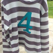 Bob & Blossom Striped 4th Birthday Tee Shirt