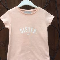 Bob & Blossom Peachy Pink SISTER Tee Shirt for Girls