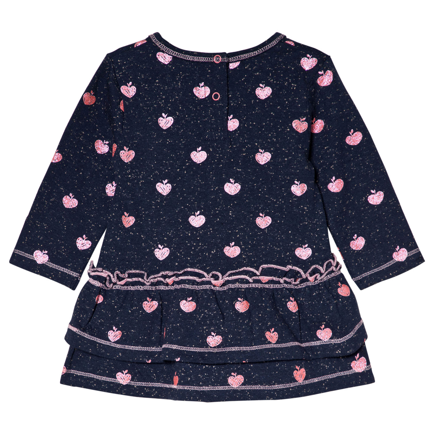 hatley glitter apple baby girl dress back