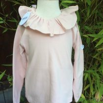 Babidu Frill Collar Long Sleeve Top – Dusky Pink